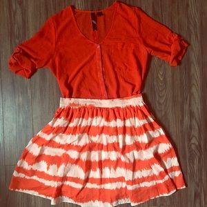 Orange Chiffon Shirt
